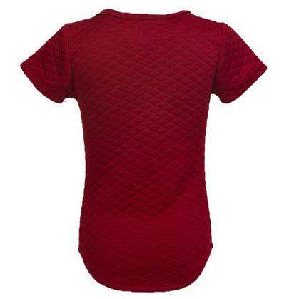 Kids Quilted Extended Red Short Sleeve