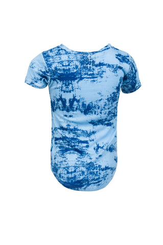 Extended Blue Ink Blot Tee
