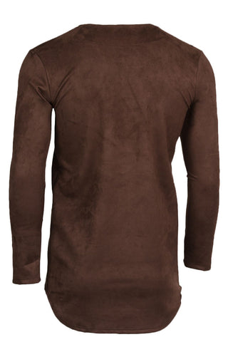 Micro Suede Brown Long Sleeve