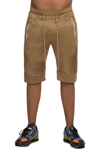 Suede Camel Shorts