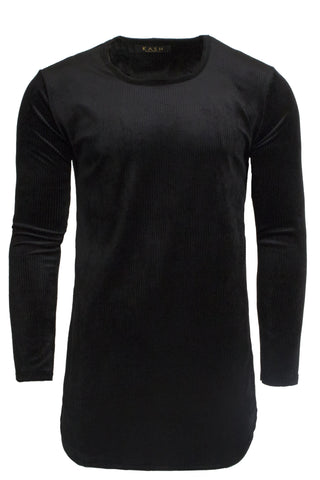 Velour Black Long Sleeve