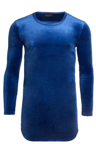 Velour Royal Blue Long Sleeve