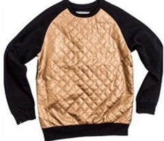 Kite Diamond Crew - Gold on Black