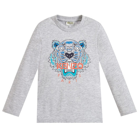 Tiger logo in blue and orange L/S Tee