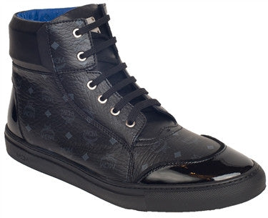 MCM Visetos High Top Sneakers (Black)