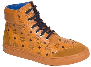 5fbb3f90591 MCM Visetos High Top Sneakers (Cognac) – PureAtlanta.com