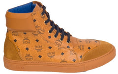 MCM Visetos High Top Sneakers (Cognac)