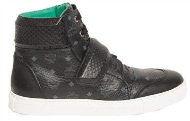 MCM Python High Top Sneakers (Black)