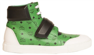 MCM Leather Hi-Top Sneaker (Paradise Green)