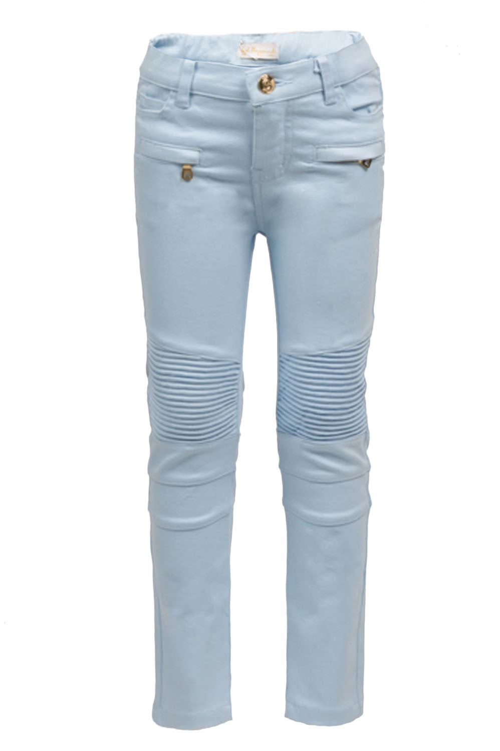 Light Blue Biker Denim