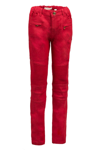 Red Biker Denim
