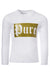 Kids Gold Logo White Long Sleeve