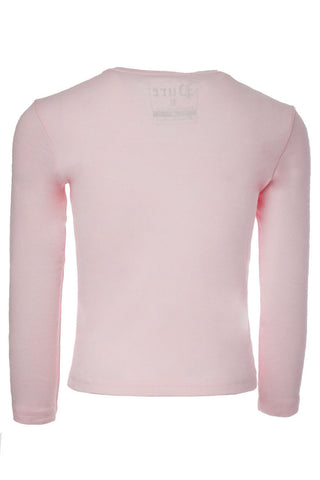 Kids Gold Logo Pink Long Sleeve
