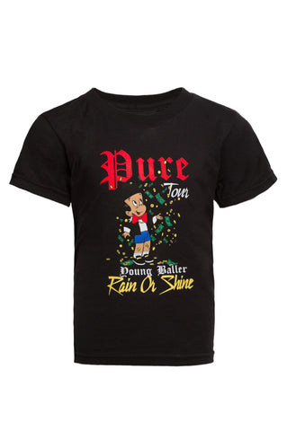 Kids Rain Or Shine Black Tee