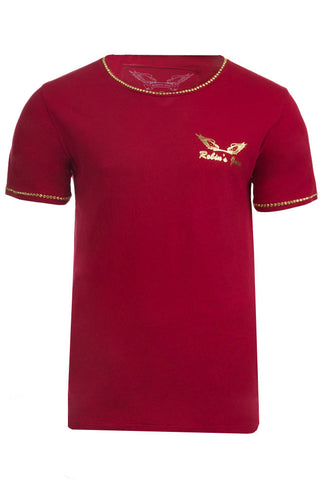 Gold Wings Logo Aurum Swarovski Red Tee