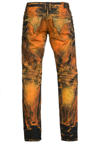 Aurum Crystal Swarovski Fire Gold Denim