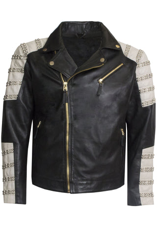 Leather Tribeca Parachute Jacket