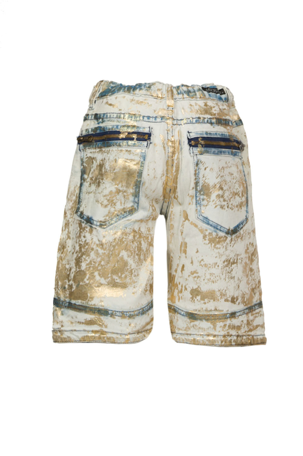 Kids Angel Foil Gold Shorts