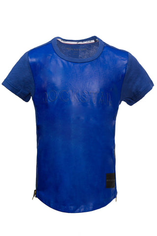 Kids Blue Leather Extended Tee