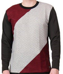 Star Status Club Long Sleeve (Black/Burgundy/Grey)