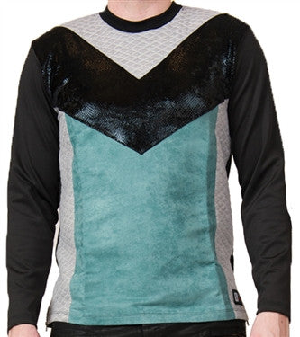 Star Status Club Long Sleeve (Black/Teal/Grey)