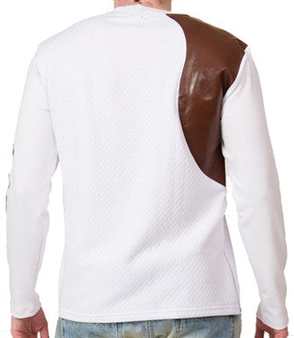 Star Status Club Long Sleeve (White/Cream/Brown)