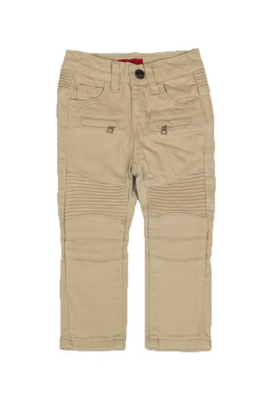 Boys Biker Tan Denim