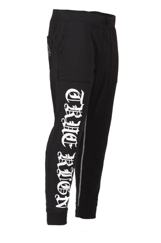 True Religion Drop Crotch Black Sweatpant Side