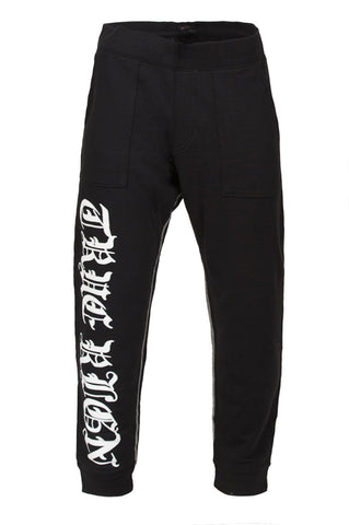True Religion Drop Crotch Black Sweatpant