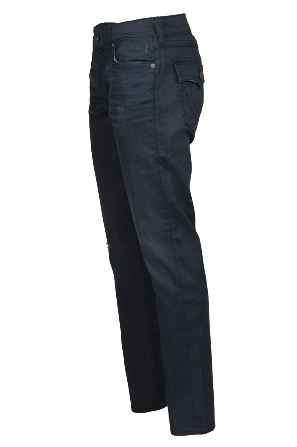 True Religion Geno Flap Pitch Dark Denim Side
