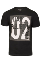 True Religion Textart Graphic Black Tee