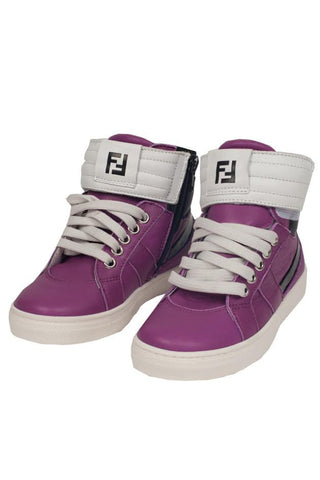 Kids Fuchsia High-Tops Shoes
