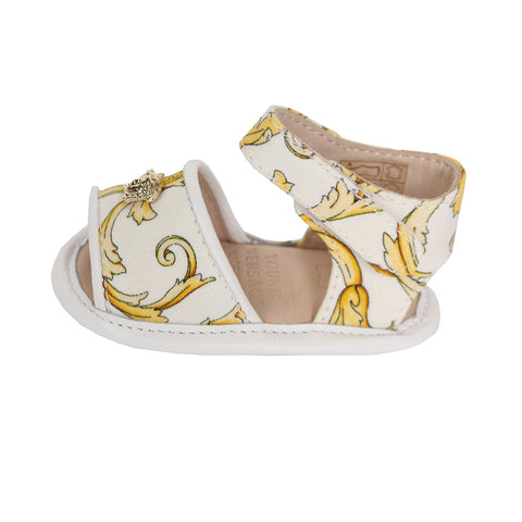 Young Versace Girls Crib Sandle Barocco(GOLD PRINT)