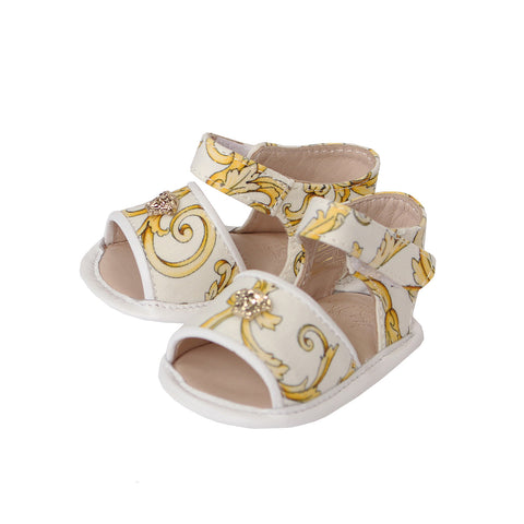 Girls Crib Sandle Barocco(GOLD PRINT)