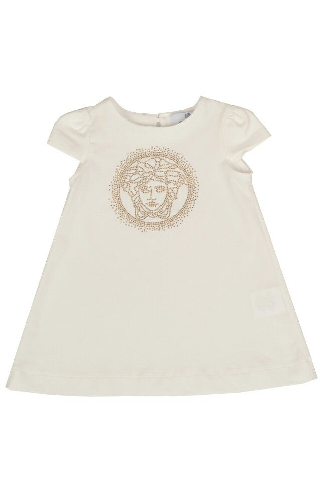 Baby Girls Medusa White Dress