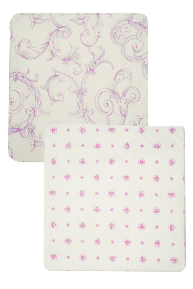 Baby Reversible Blanket-Pink and White