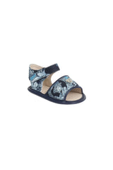 Young Versace Baroque Blue Sandals