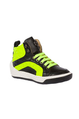 Boys High-Tops Medium Lime Black Shoes