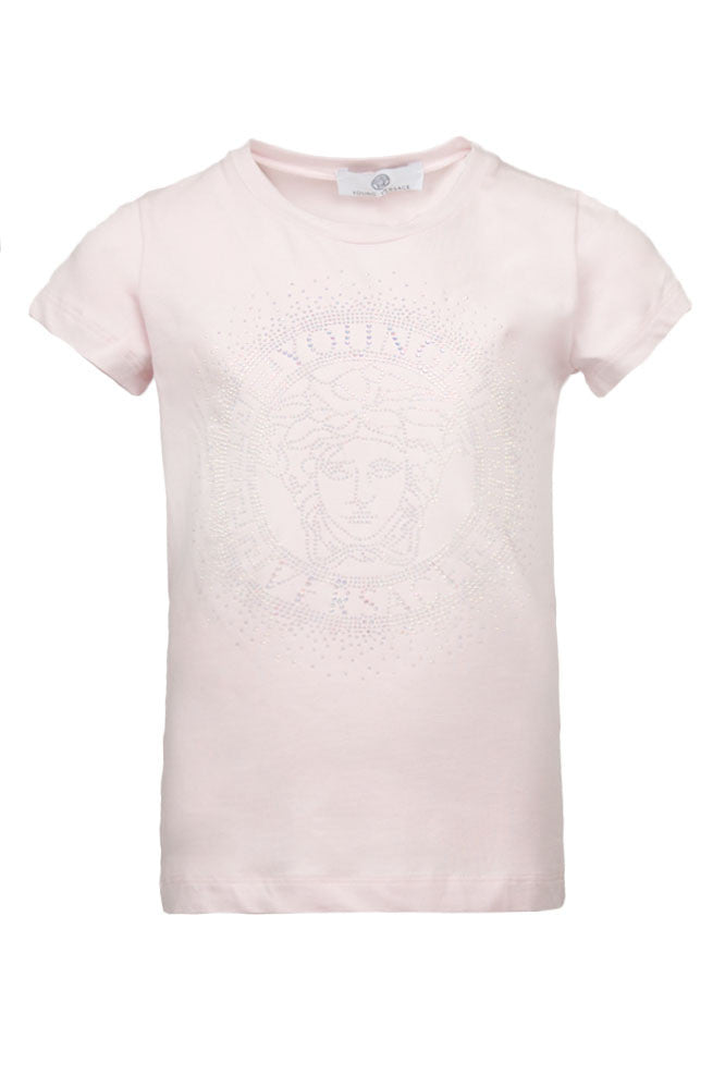 Medusa Crystal Light Pink Long Sleeve