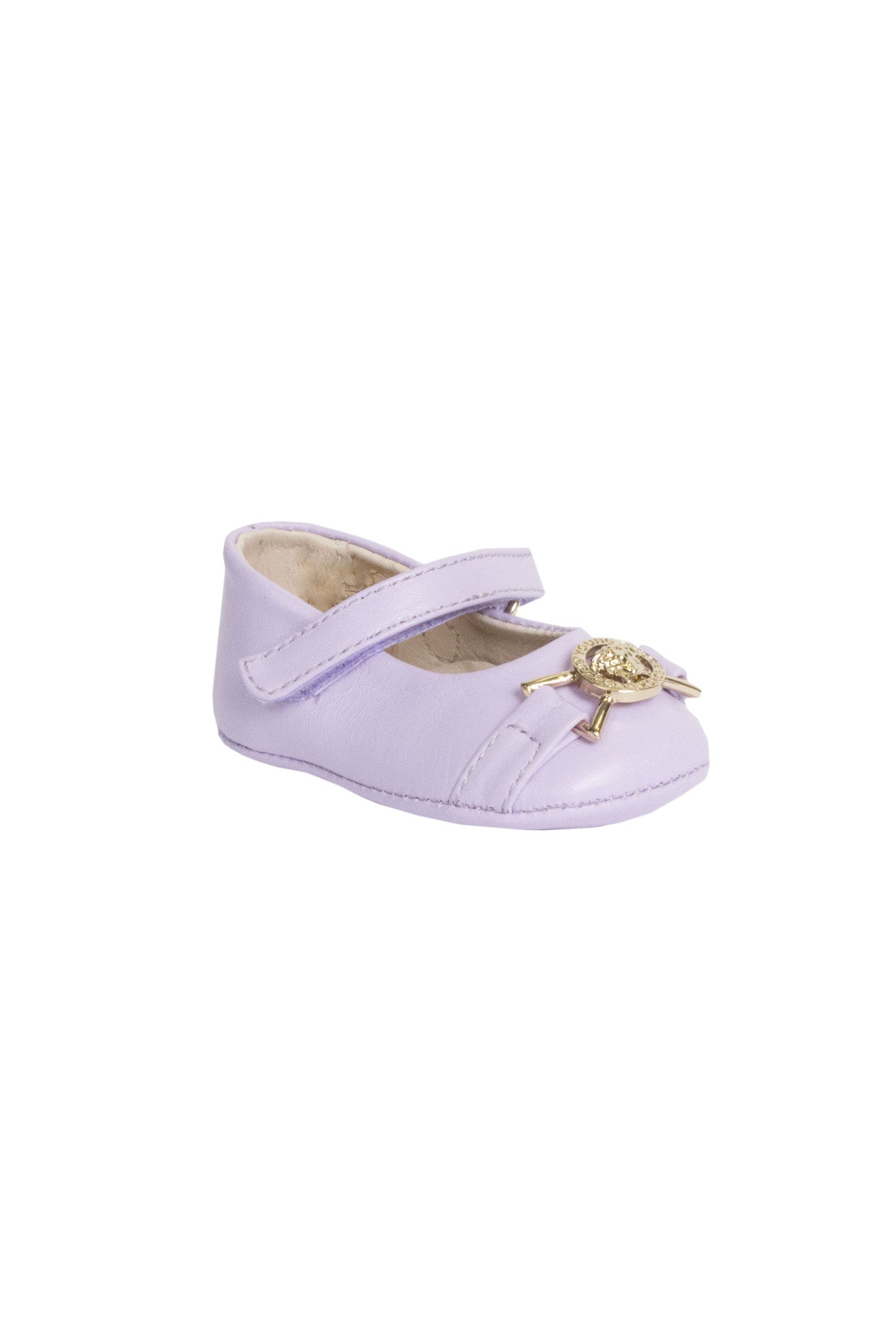 Girls Leather Pre-Walker Shoes-Lilac