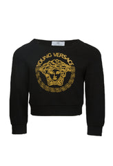 Girls Gold Medusa Sweater