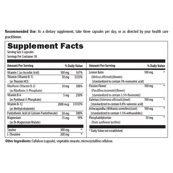 Adrenal Metabolism Formula Nutrition Facts