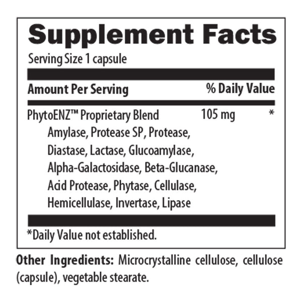 Digestive Support Nutrition Facts