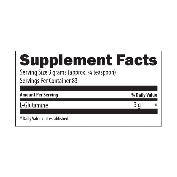Glutamine Nutrition Facts