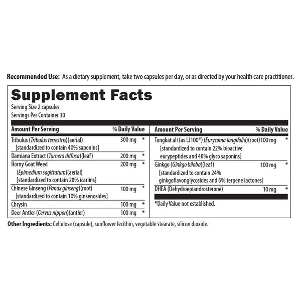 Libido Formula Nutrition Facts