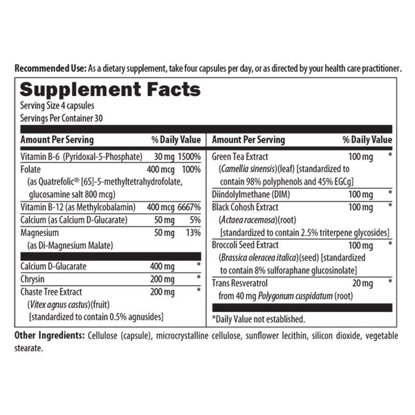 Menopause Support Nutrition Facts