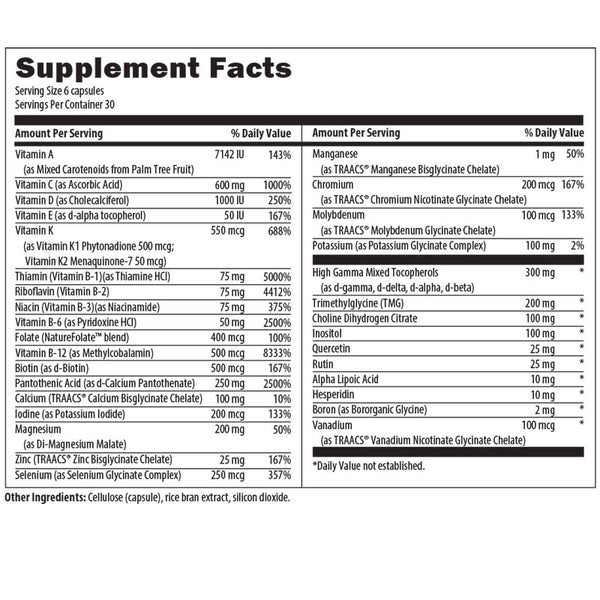 Multi Essentials Nutrition Facts