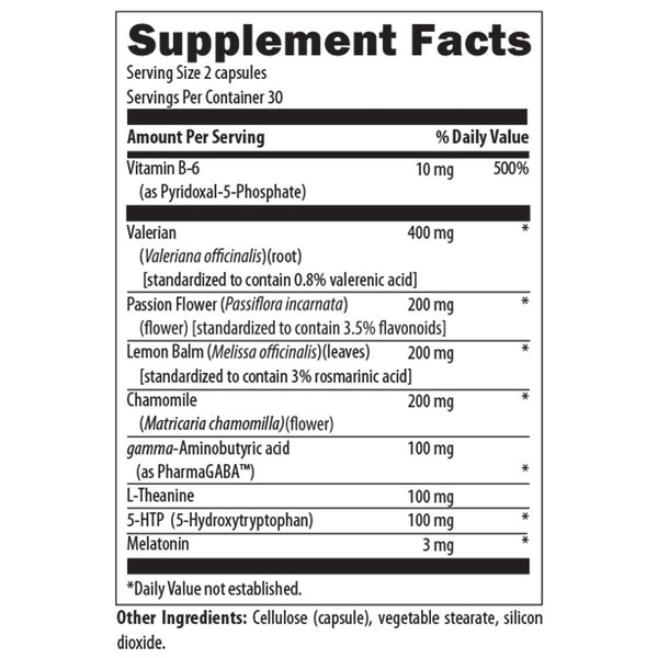 Sleep Support Formula Nutrition Facts