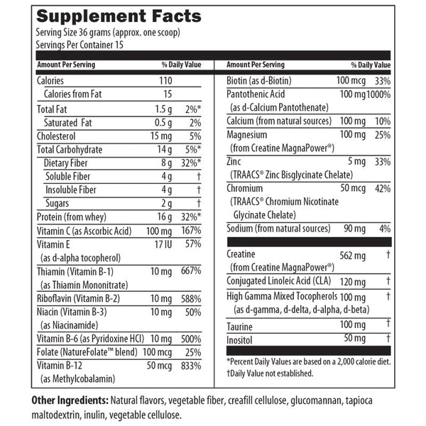 Super Shake Vanilla Nutrition Facts