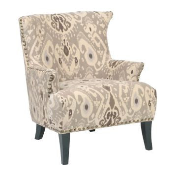 Renee Taupe Ikat Arm Chair